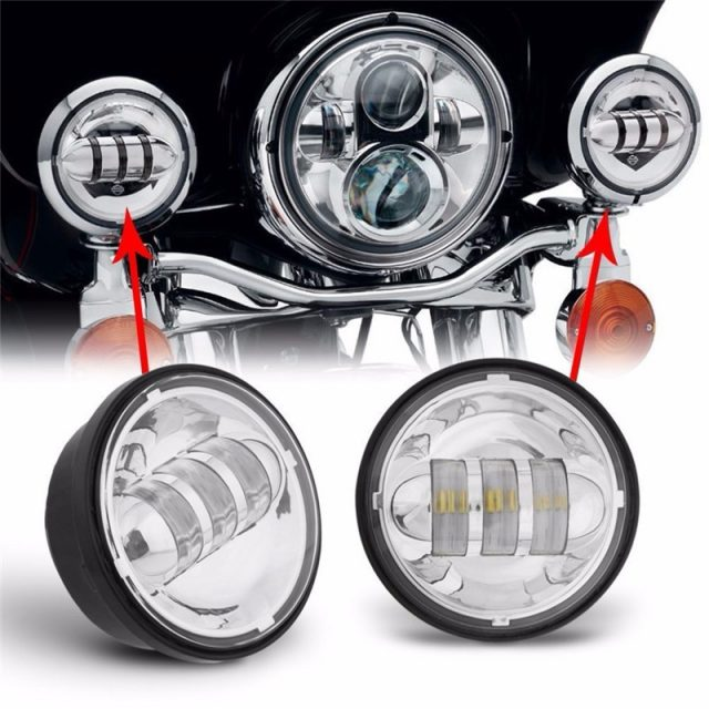 2 Pcs Motorcycle Led Auxiliary Lights