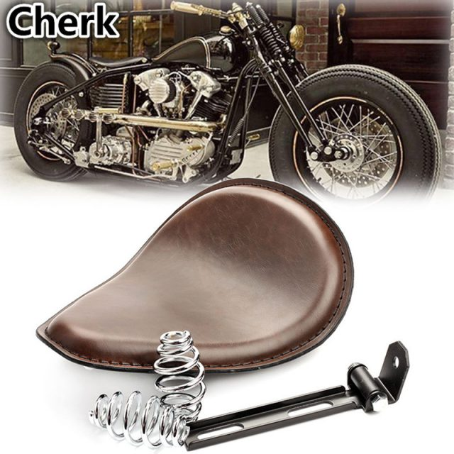 Brown Motorcycle Solo Seat
