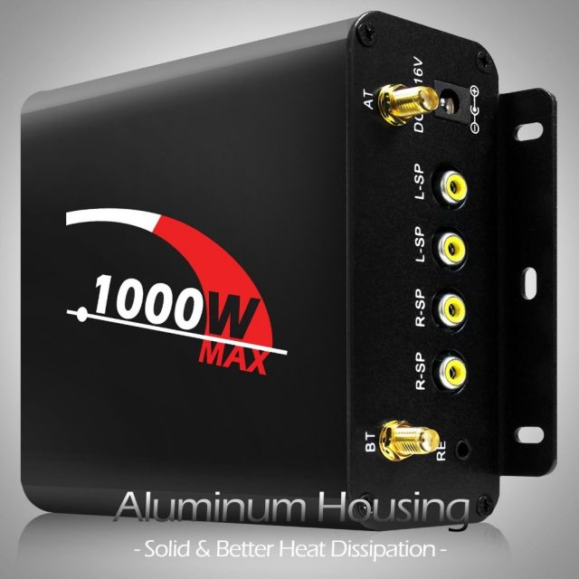1000W Amplifier Bluetooth Motorcycle Stereo Audio System