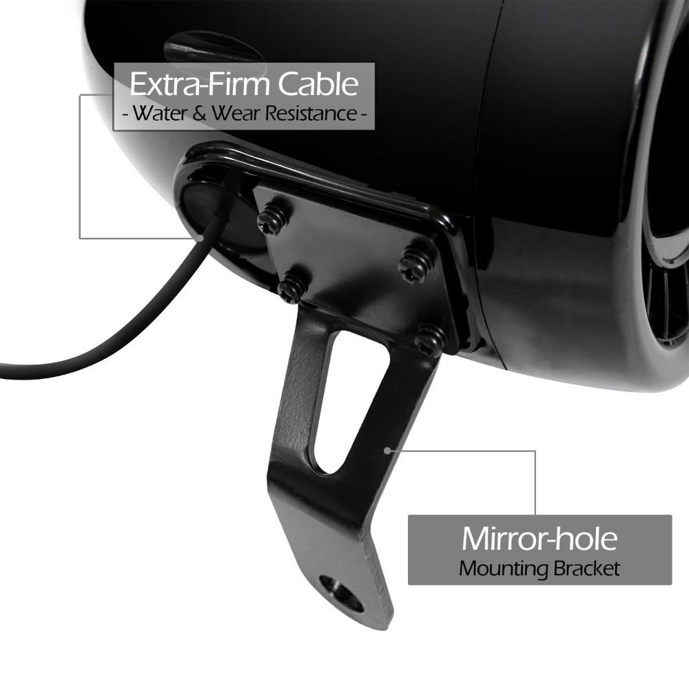 Aileap 1000W Amplifier Bluetooth Motorcycle Stereo 4 Speakers MP3 Audio FM Radio System for HARLEY/SUZUKI/HONDA/ATV/UTV (Black)