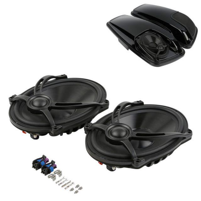 TCMT Motorcycle 5″x7″ Moto Speakers For Harley Touring Saddlebag Lid Electra Street Glide Road King FLHR FLTR FLHRC 94-13 14-18