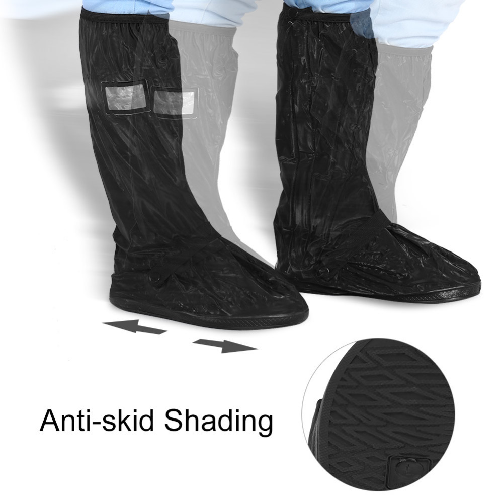Motorcycle Scooter Bike Cycling Waterproof Rain Shoes Cover Reusable Rainy Snowy Day Protector Non-Slip Boots Covers for rider