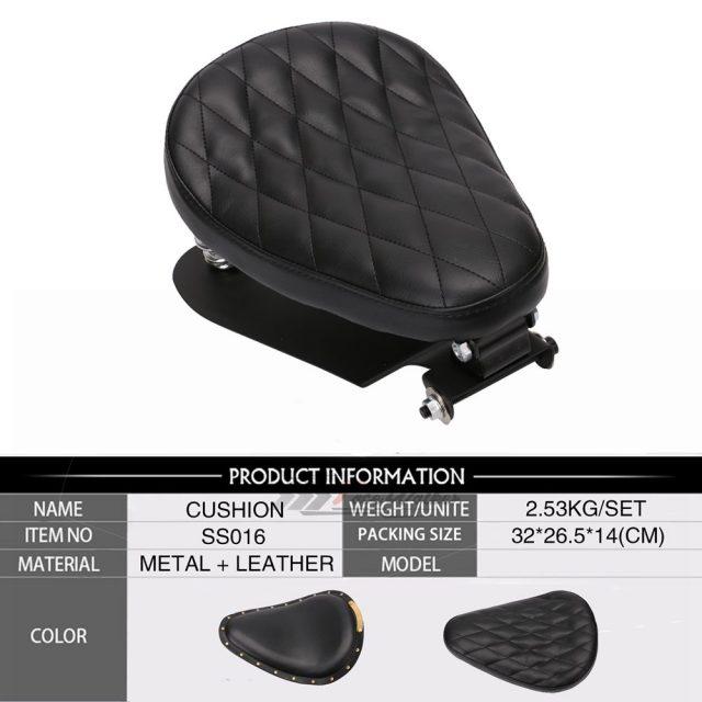 Motorcycle Solo Seat Kit for Sportster XL 883 1200 Bobber Chopper