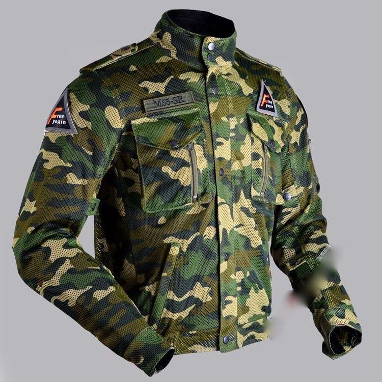 New design  motorcycle summer air mesh  jacket  Military  Army Camo