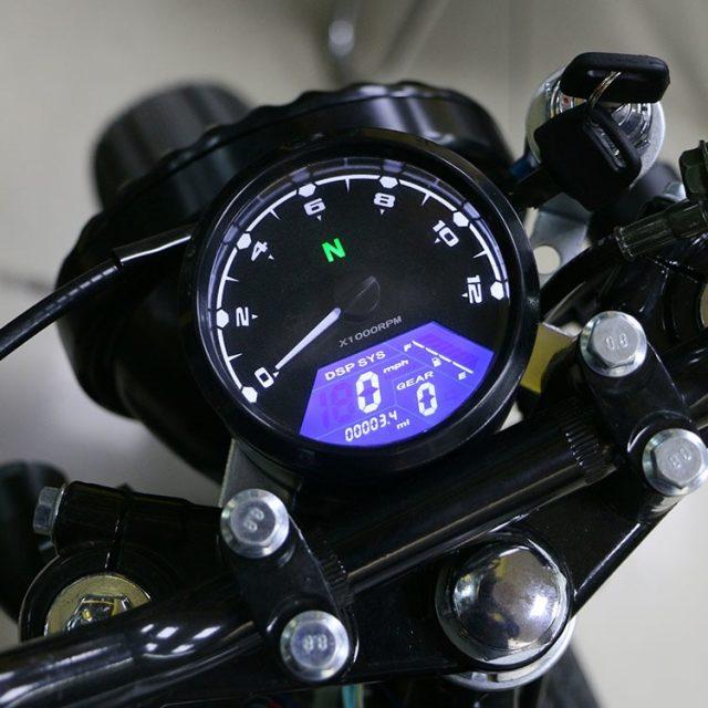 12000RPM Motorcycle Universal LCD Speedometer/Tachometer/Odometer