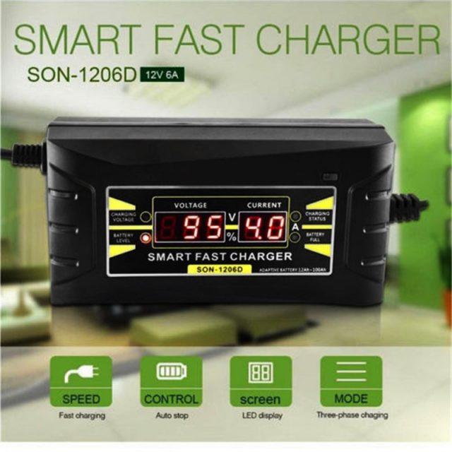 Automatic Smart Battery Charger 110V to 220V 6A 12V