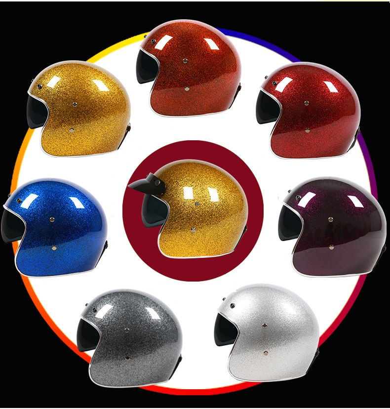 Classic Vintage Motobike helmet 3/4 open face helmet for retro motorcycle riders Safe and light