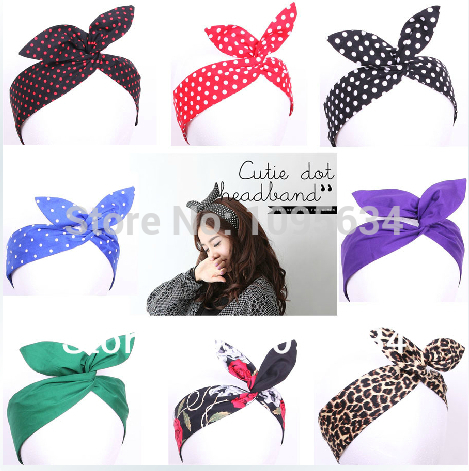 Retro Headband Polka Dots