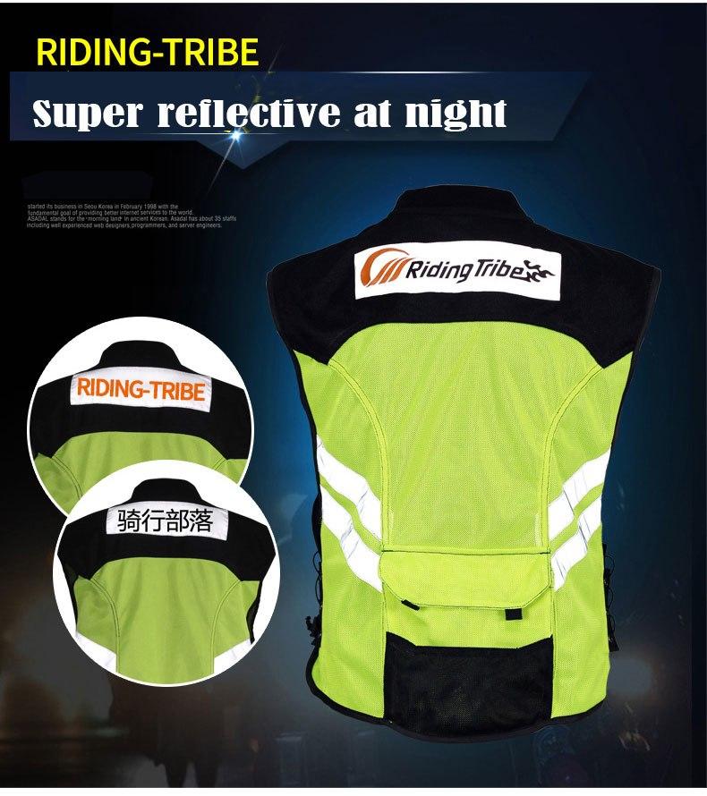 Motorcycle Reflecting vest riding tribe motrobike Racing reflective Moto sports Safety motocross clothing Fluorescent Green