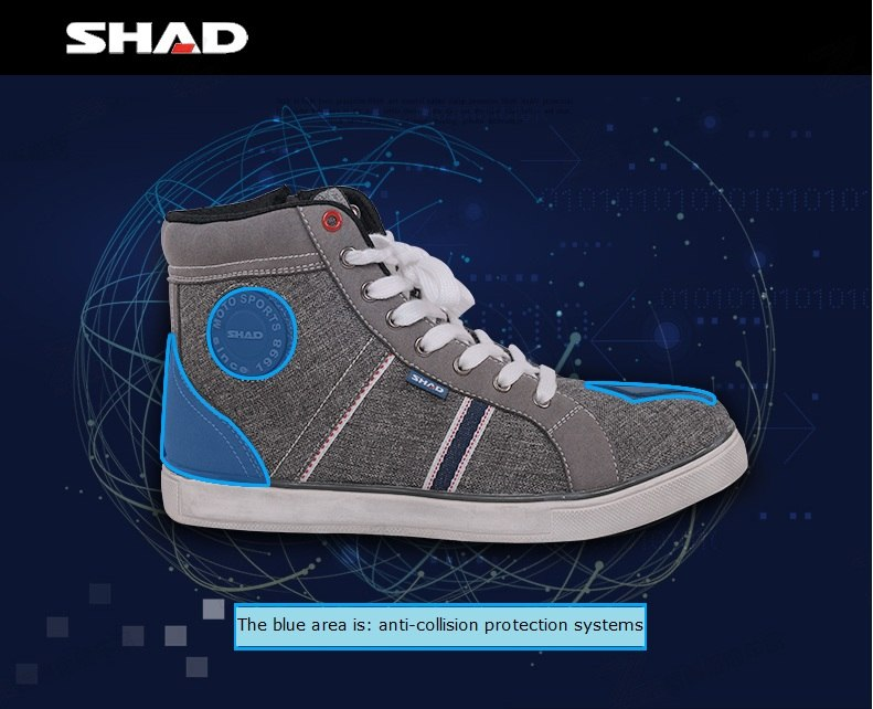 SHAD Fashion Casual Wear Motorbike Riding Shoes Motorcycle Boots Street Racing Boots Breathable Biker Boots