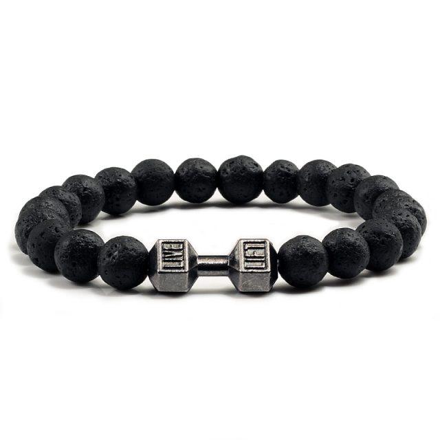 Stone Dumbbell Bracelet