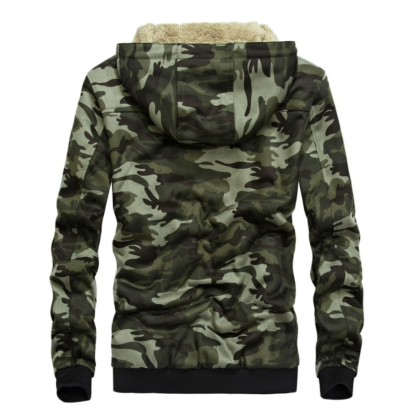 LONMMY 3XL Hoodies Sweatshirts mens Velvet thicker liner Camouflage jackets men coat military style Hooded Outerwear 2018 Winter