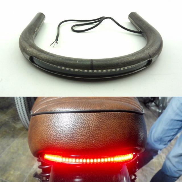 Motorcycle Seat Frame with LED Brake Turn Signal