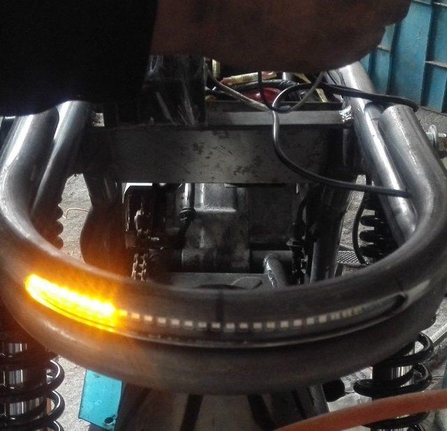 Universal Tube Seat Frame with LED Brake Turn Signal