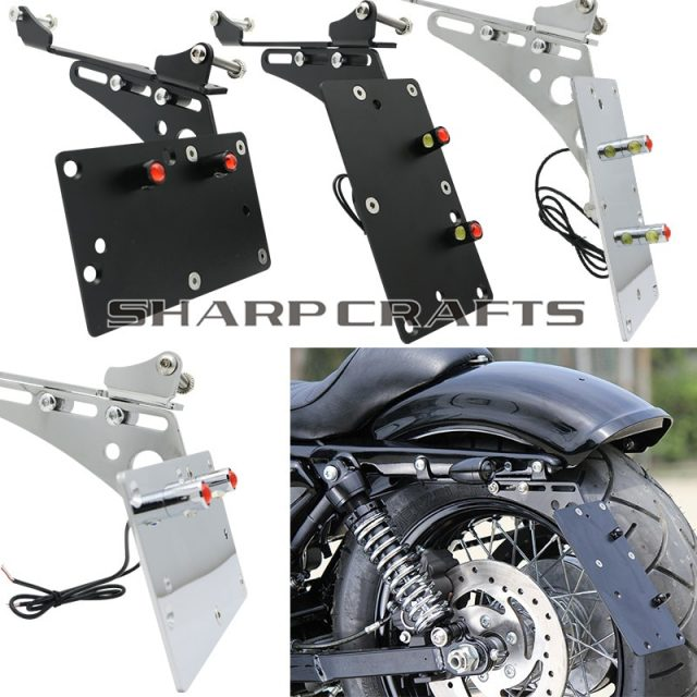 Motorcycle Side Mount License Plate