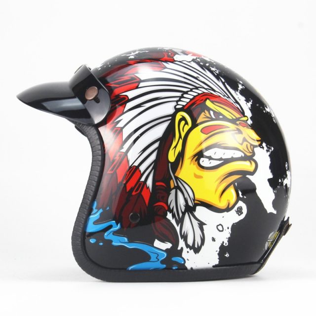 Open Face Vintage Motorcycle Helmet