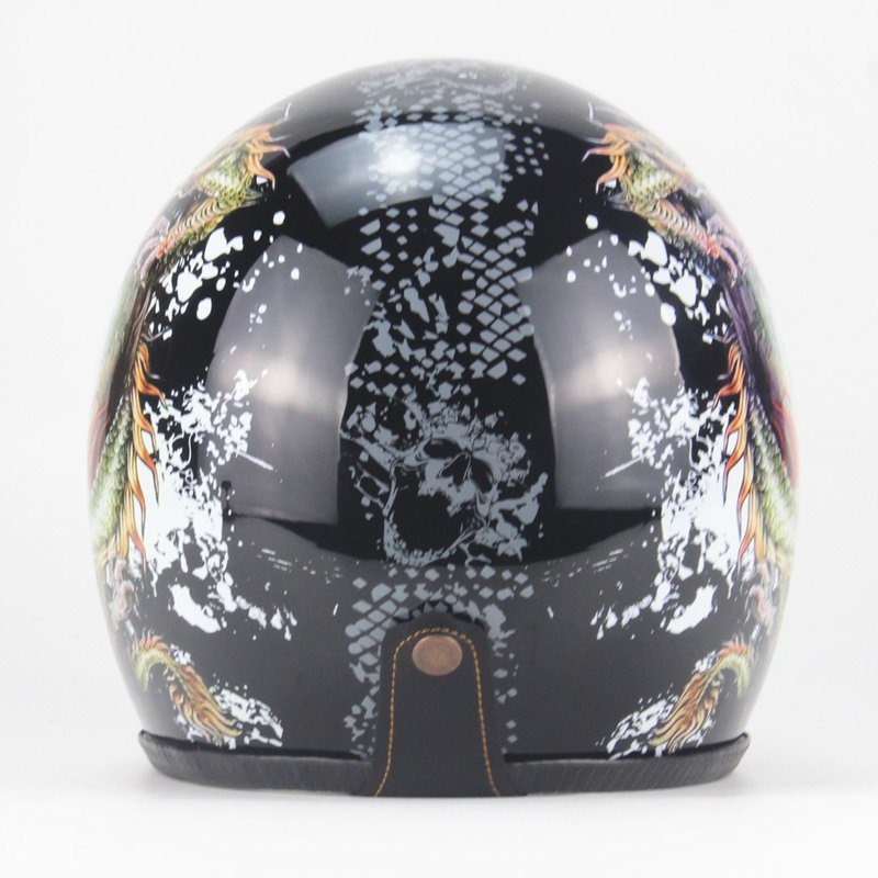 3/4 Harley Helmets Motorcycle open face vintage motorcycle helmet Retro Cruiser Chopper Open Face Moto DOT Approval