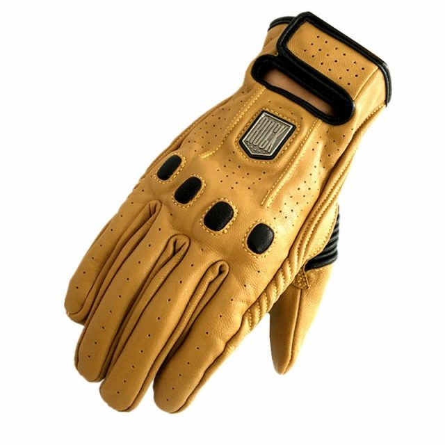 Motorcycle Leather Gloves – Retro Style