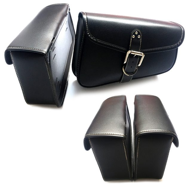 Black Synthetic Leather Right/left Side Motorcycle Saddlebag For Harley Sportster XL 883 XL 1200