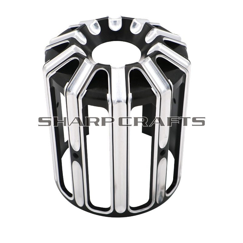 Motorcycle Part Black Chrome CNC Oil Filter Cover For Harley Sportster XL 883 1200 Dyna Softail Touring Fat boy Machine Oil Grid
