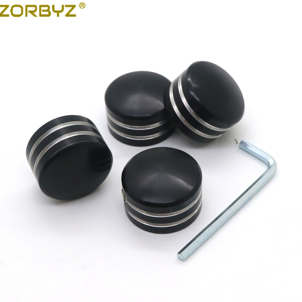 ZORBYZ Black / Chrome Spark Plug Head Bolt Cap Cover Plug For Harley Twin Cam Touring 1999-2017