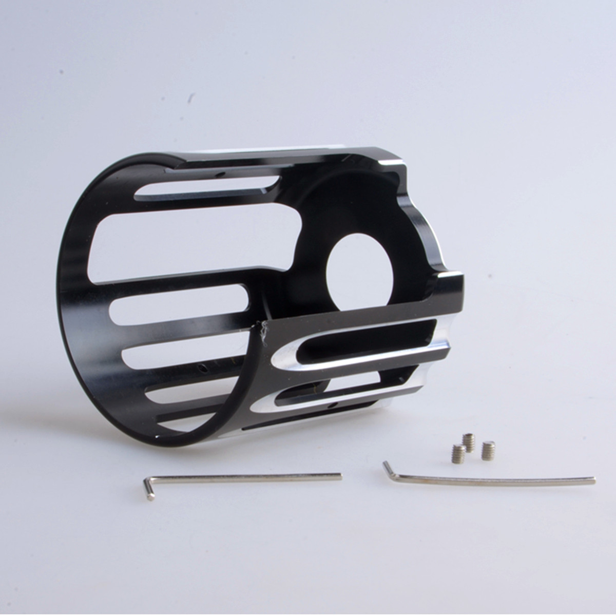High Quality Motorcycle Oil Filter Cover Trim For Harley-Davidson Twin Cam Models CNC Aluminum Deep Cut Chrome & Black