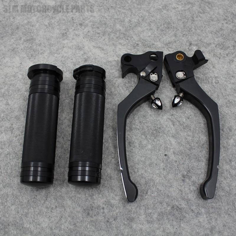 Pair Black CNC RSD Regulator Brake Clutch Handle Lever For Harley Sportster 1200 XR1200 Sportster 883 2004-2013