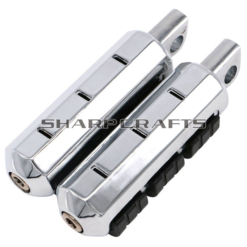 2x Male Mount Motorcycle CNC Aluminum Foot Pegs Footrest For Harley Sportster Iron Touring Custom Dyna Fat Bob Softail Fat Boy