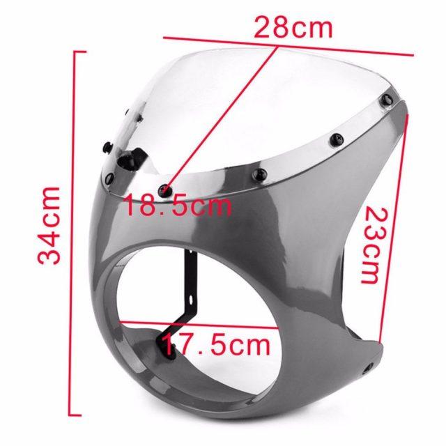 Universal 7″ Headlight Fairing Windshield