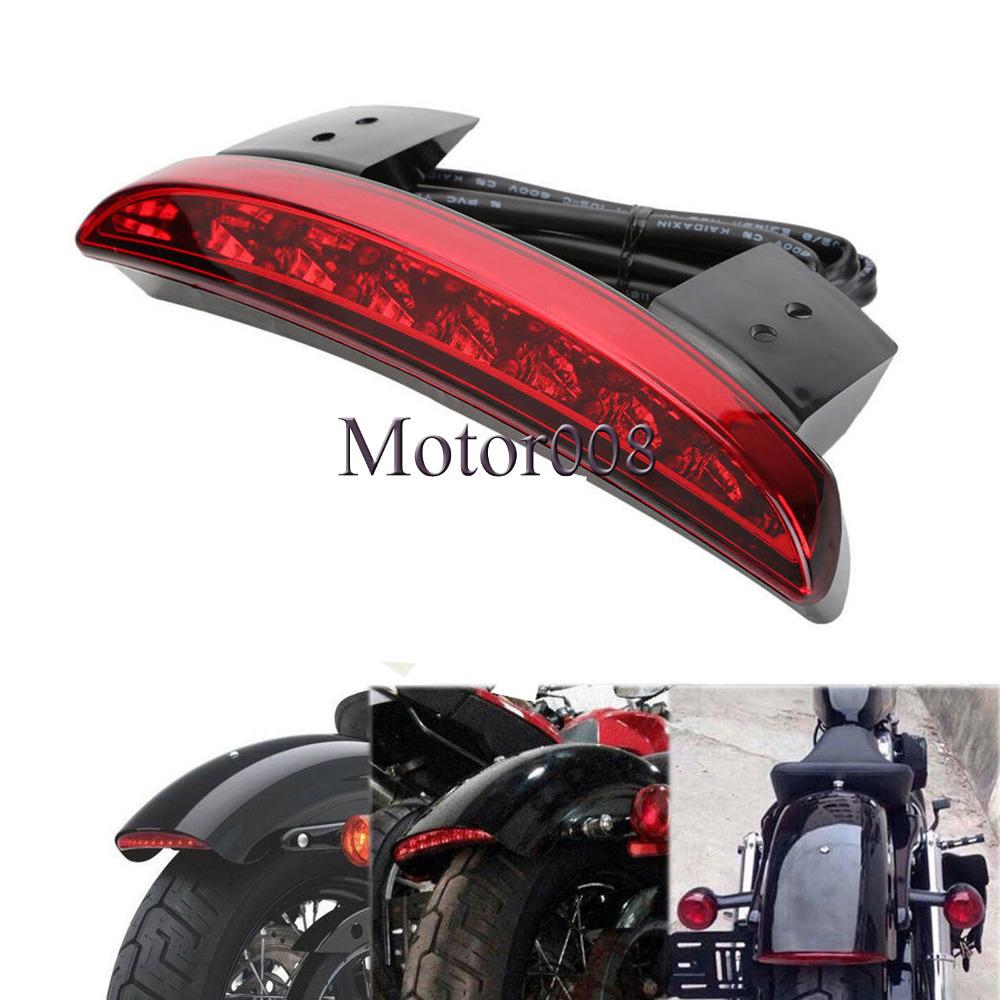 Motorcycle Rear Fender Edge LED Brake Light For Harley Touring Sportster XL 883 1200 Cafe Racer