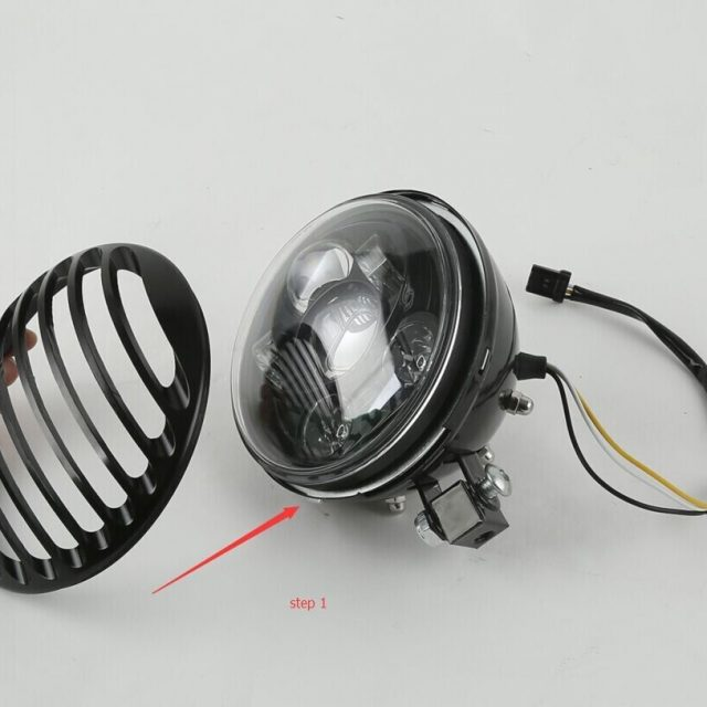 5.75″ 5 3/4″ Led Headlight Grill Cover For Harley Davidson Sportster