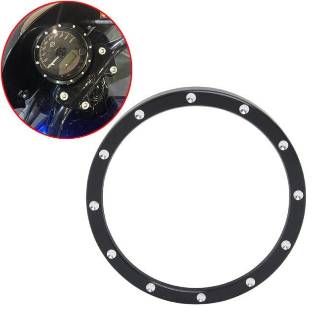 Black Speedometer Gauge Bezel Decorative Cover for Harley