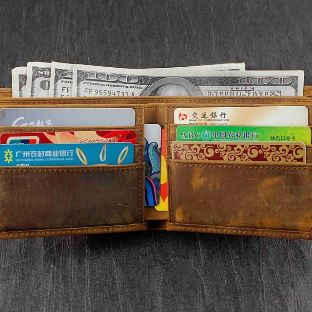 Vintage Brown Wallet – Genuine Leather