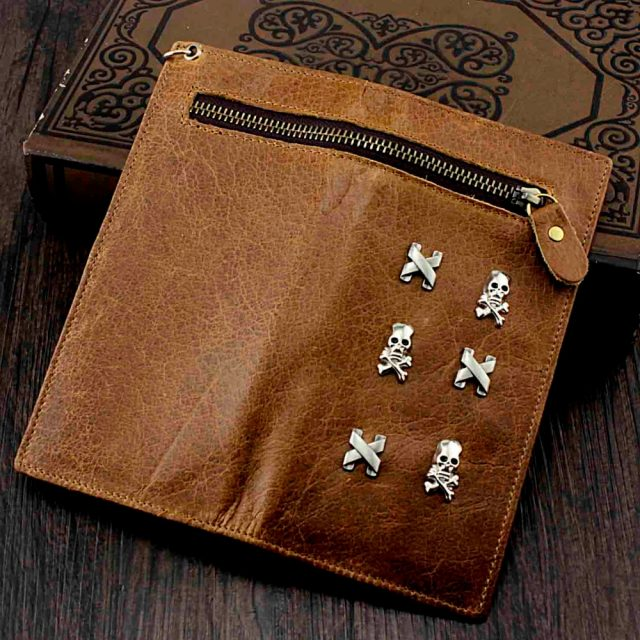 Skull Wallet – Genuine Leather