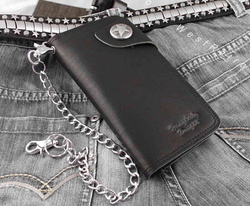 Biker Wallet - Genuine Leather