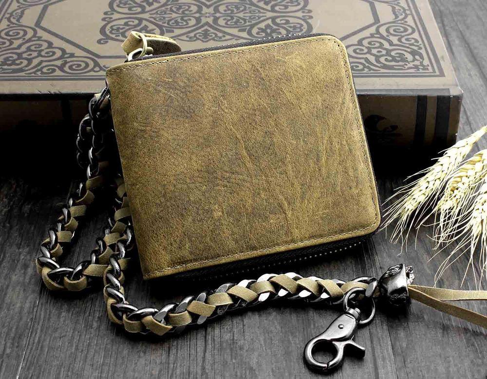 Mens Vintage Wallet - Genuine Leather