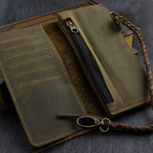 Biker Wallet  – Genuine Leather