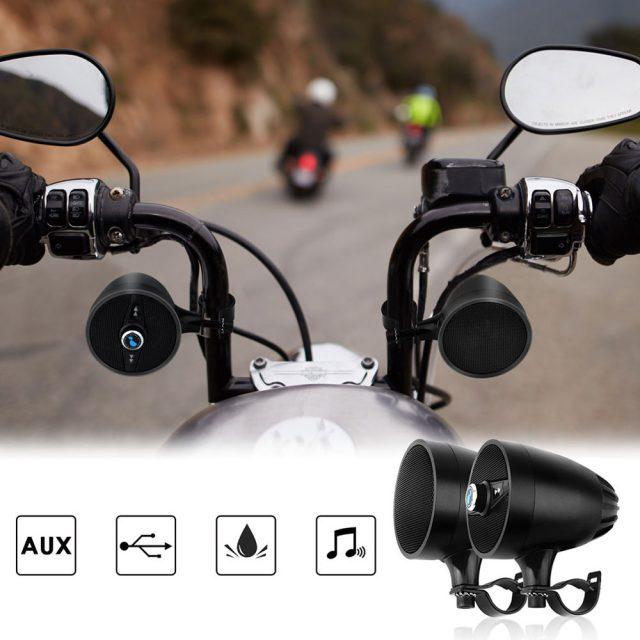 Bluetooth Speakers Player for Motorcycle Waterproof – Black
