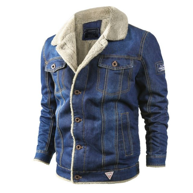 Men Winter Denim Jacket