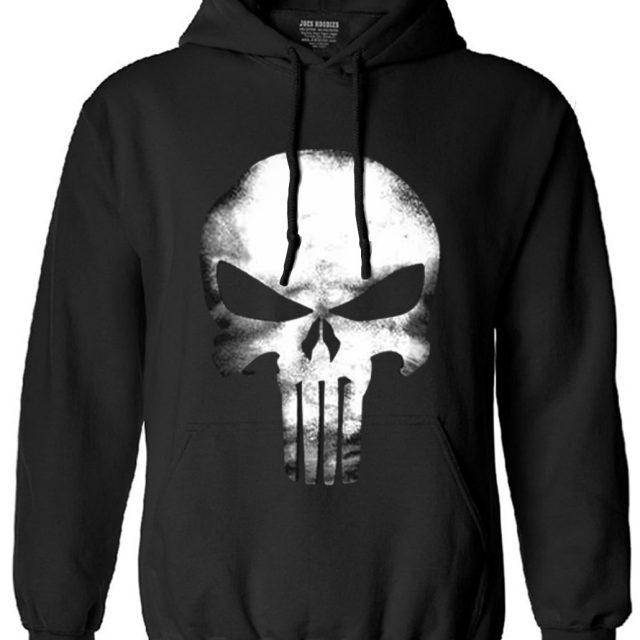 Long Sleeve Skull Hoodie