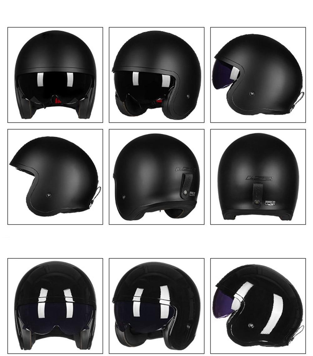 LS2 Spitfire OF599 Jet Motorcycle Helmet 3/4 Harley Cruiser Touring Scooter Casco Moto Casque Kask Capacetes De Motociclista