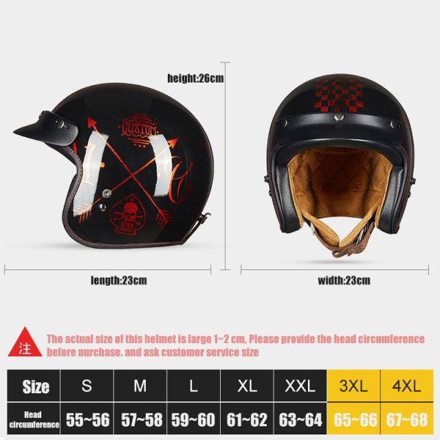 Retro style Helmet – ECE certified