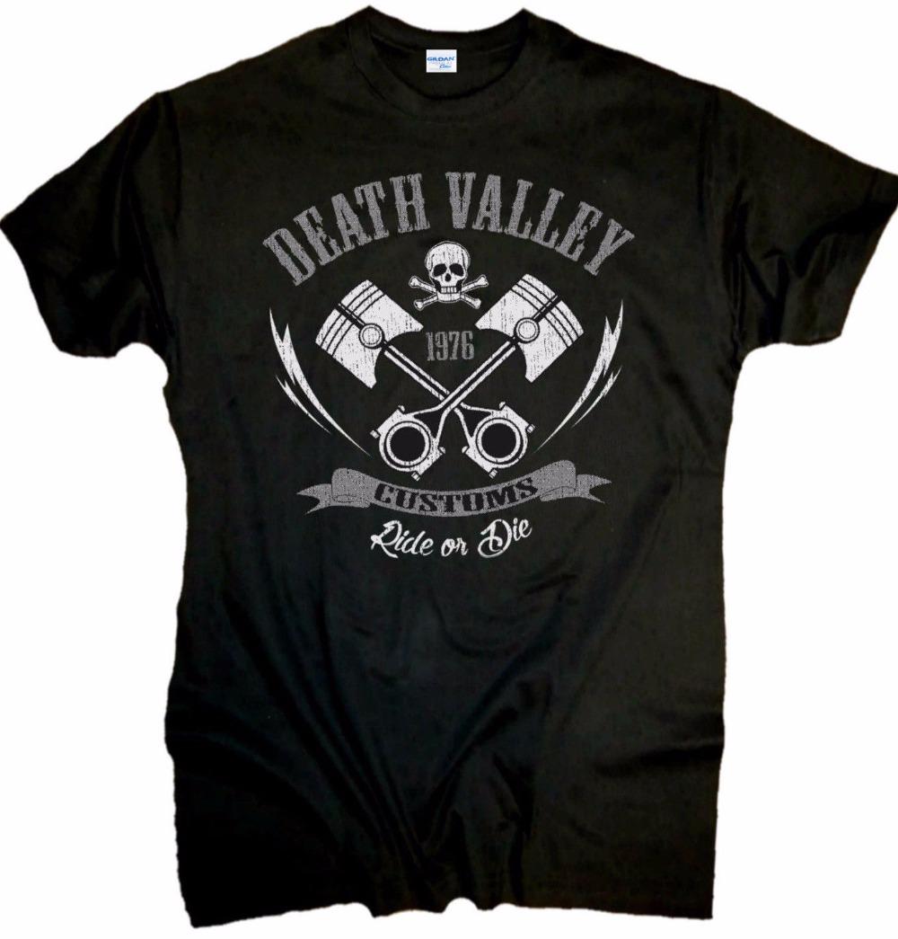 New Men T Shirt Fashion Print Tee Shirt Men Summer Style Biker T-Shirt Death Valley Chopper Hot Rod Old School novelty T-Shirt