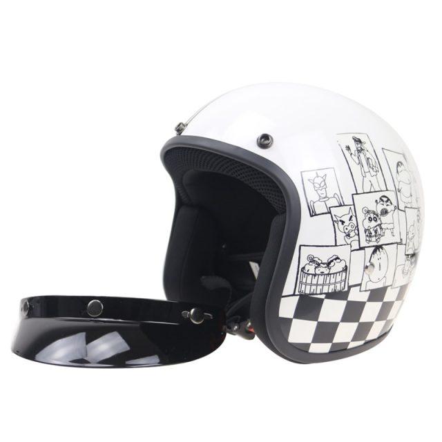 Cartoon Design Motorcycle Helmet