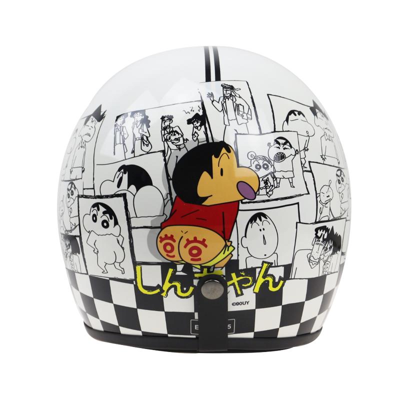 Fiberglass shell light weight Carton design motorcycle helmet 3/4 Japan style vintage motorbike helmet DOT JIS approved