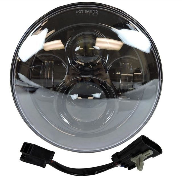 7 Inch Daymaker LED Headlight with 4.5 Inch Fog Lamps