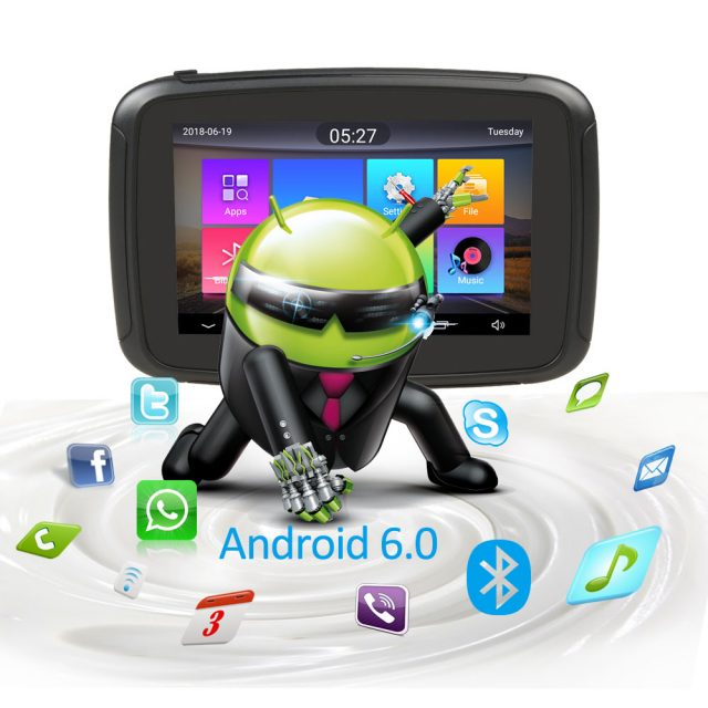 5 inch Motorcycle GPS Navigation Android 6.0 Wifi Waterproof Bluetooth
