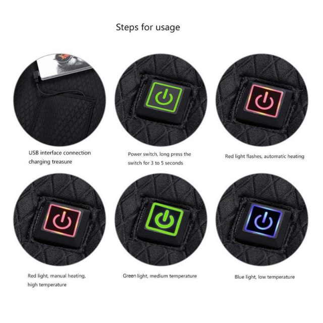 USB rechargeable HEATED VEST