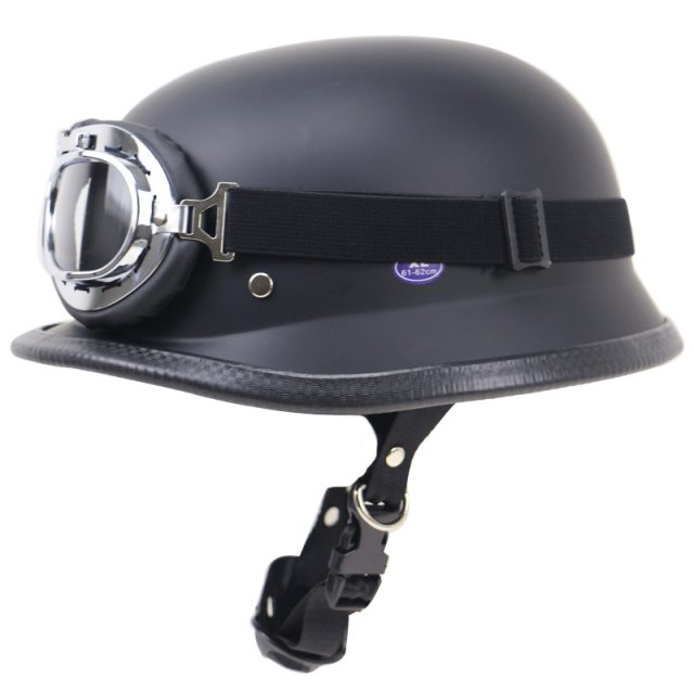 Lightweight Retro Motorbike Helmet and Goggles