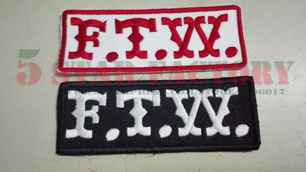 FTW Patch embroidered – 2 pcs
